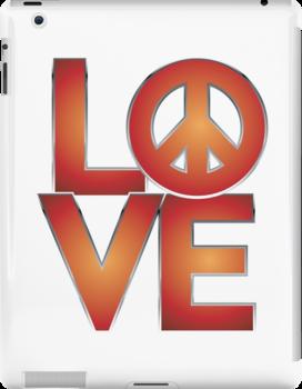 LOVE Peace by Lisann