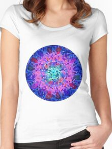 Mosaic texture Women's Fitted Scoop T-Shirt