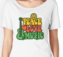 Reggae Peace-Love-Music Women's Relaxed Fit T-Shirt
