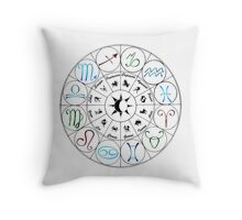 Zodiac Clock Throw Pillow