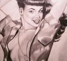BETTY PAGE DRAWING by danwick