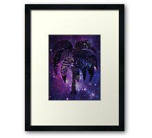 Space Palm Tree Framed Print