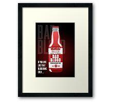 Taylor Swift's Bad Blood Bottle Advertisement Framed Print