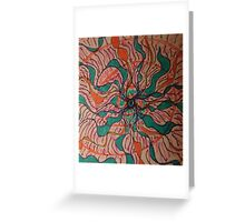 spiral energy lotus Greeting Card