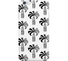 Pupule Vintage Palm Tree Hawaiian - Black and White iPhone Case/Skin