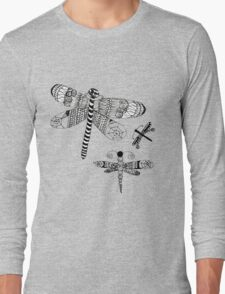 Dragonfly Swarm Long Sleeve T-Shirt