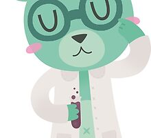 Green Science Bear by Claire Stamper
