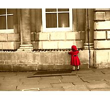 Little Girl in Red Riding Hood outfit Photographic Print