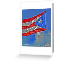 The Flag of Puerto Rico Greeting Card