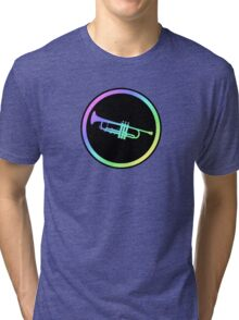 Colorful Trumpet Sign  Tri-blend T-Shirt