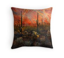 Desert Burn Throw Pillow