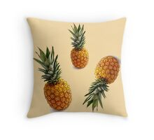 hipster summer girly cute pineapple pattern Throw Pillow