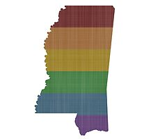 Mississippi Rainbow Gay Pride by surgedesigns