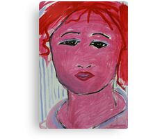 The Red Faced GIRL Canvas Print