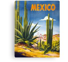 Mexico Vintage Poster Restored Canvas Print