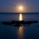 Coromandel moonset by Paul Mercer