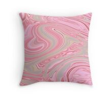 girly elegant cute pink cherry blossom pink swirls  Throw Pillow