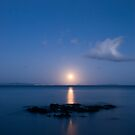 Coromandel moonset 2 by Paul Mercer