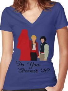 Do You Permit It? Women's Fitted V-Neck T-Shirt