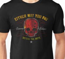 DEFEND THE ARTS RED SKULL Unisex T-Shirt