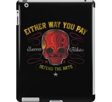 DEFEND THE ARTS RED SKULL iPad Case/Skin