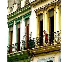 Curious Curlers in Cuba Photographic Print
