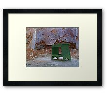 Sit and Wait Framed Print