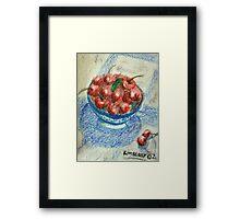 Bowl of Cherries Framed Print