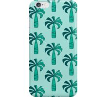 Pupule Vintage Palm Tree Hawaiian -  Mint & Pool Green iPhone Case/Skin