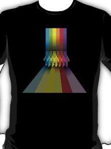 Color: Rainbow Streaks Polar Bear T-Shirt