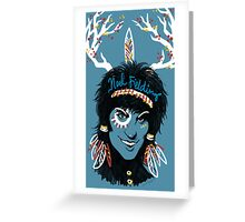 Noel Fielding: Blue Diamonds Greeting Card