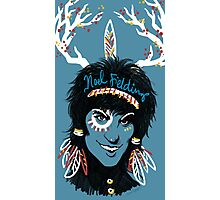 Noel Fielding: Blue Diamonds Photographic Print