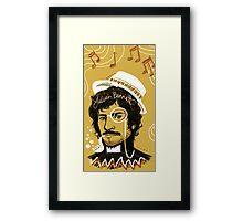 Julian Barratt: Gold Lion Framed Print