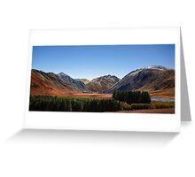Glacier Valley  Greeting Card