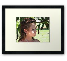 Deep in thought... Framed Print