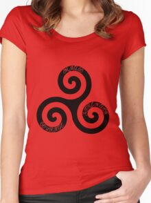 Strength Courage and Magic Women's Fitted Scoop T-Shirt