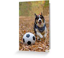Four-legged Soccer Player Greeting Card