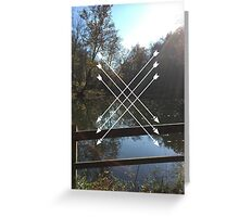 LAKES AND ARROWS Greeting Card