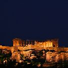 Lights of Acropolis - Athens, Greece by David McGilchrist