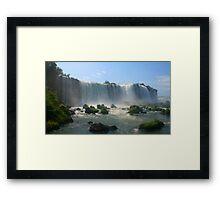 Wall of Water - Landscape, Iguazu Falls Framed Print