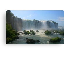 Wall of Water - Landscape, Iguazu Falls Canvas Print