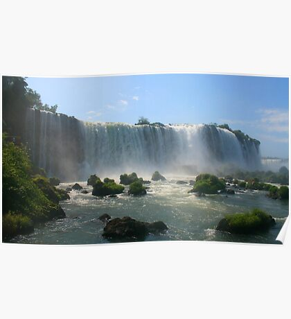 Wall of Water - Landscape, Iguazu Falls Poster