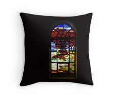 A Tale of Windows and Magical Landscapes Throw Pillow
