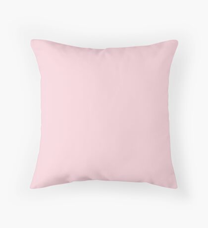 fashion romantic cotton candy pastel blush pink Throw Pillow