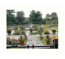 Walled Garden at Kensington Palace London England Art Print