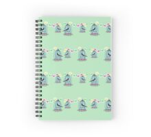 Magpies in cages with fairy lights Spiral Notebook