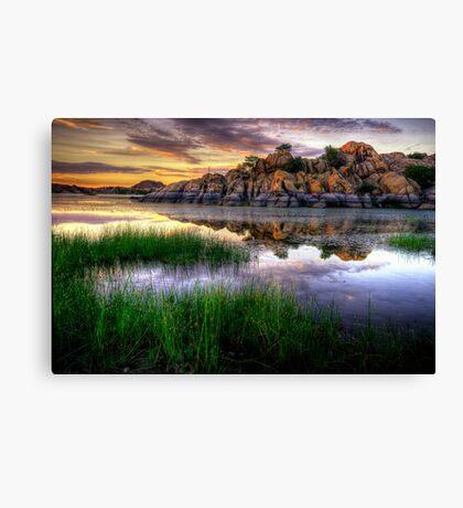 Willow Rock Sunset Canvas Print