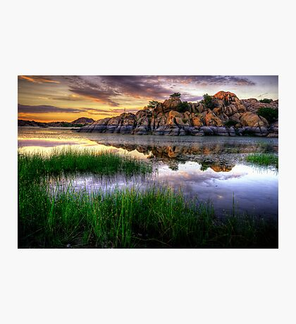 Willow Rock Sunset Photographic Print