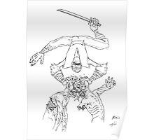 Monkey-Ninja Dual Zombie Strike! Poster