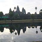 Sunrise at Angkor Wat Cambodia by Adrienne Bartl
